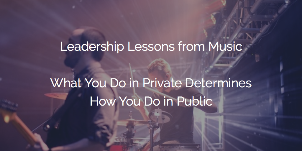 Prepare Privately before Performing Publicly