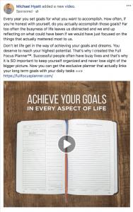 Michael Hyatt Facebook ad Full Focus Planner version 2