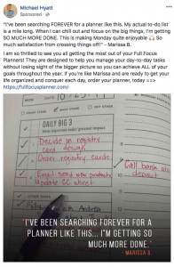 Michael Hyatt Facebook ad Full Focus Planner