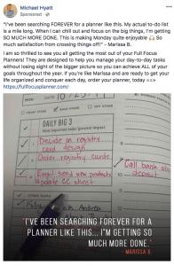 Michael Hyatt Facebook ad Full Focus Planner